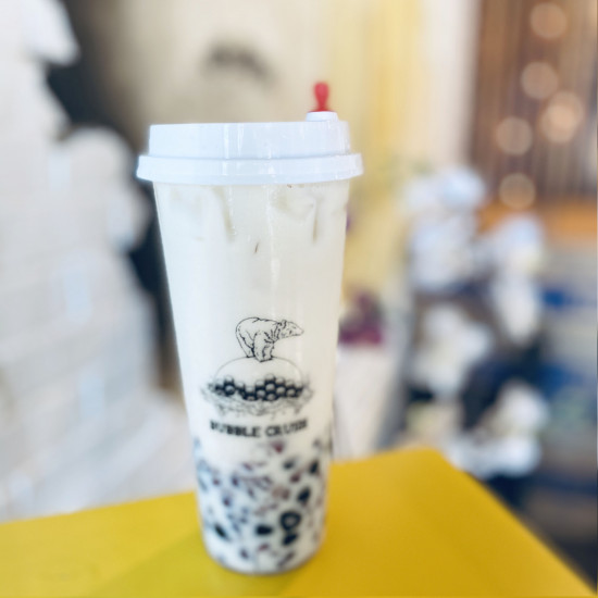 Iced milk with Red Bean and Boba